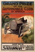 Vintage car race advertisment - Automobile club of America